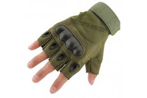 """Тактические беспалые перчатки с защитой """"Olive"""""""