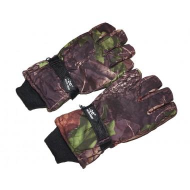 Перчатки камуфляж с флисом