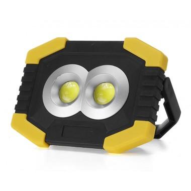 Фонарь прожектор с подзарядкой от солнца 2 COB LED