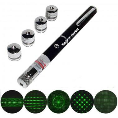 Лазерная указка Green Laser  5 насадок