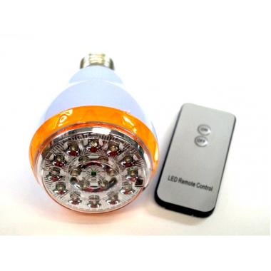 Аккумуляторная лампа с пультом и цоколем Е27