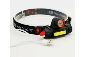 Налобный аккумуляторный фонарь с фокусом