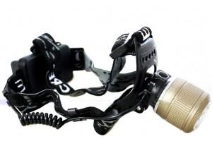 Налобный фонарь на двух светодиодах (холодный/теплый)
