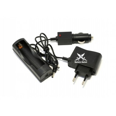 Зарядное устройство 18650 сеть+авто