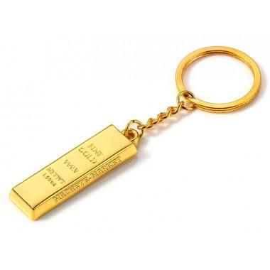 """Брелок для ключей """"Золотой слиток"""""""