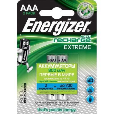 Аккумулятор AAA Energizer Extreme NH12 800мА 2шт