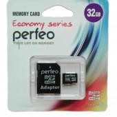 Micro SD 32GB Perfeo с адаптером 10 Class