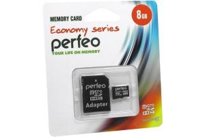 Карта памяти Micro SD 8GB с адаптером 10 Class