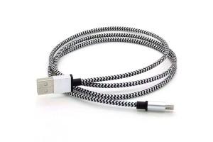 USB кабель в тканевой оплетке mikro