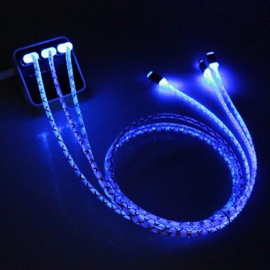 Кабель USB iPhone 5/6  светящийся