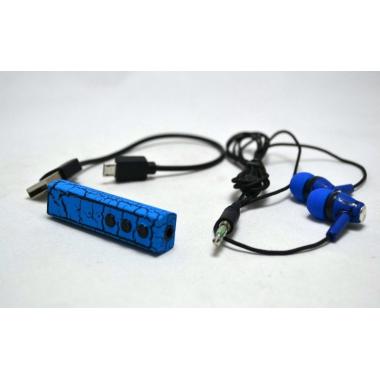 Наушники гарнитура с Bluetooth Crack effect