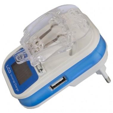 Универсальная зарядка для АКБ (лягушка) с дисплеем