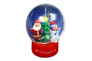 """Надувная фигура """"Дед Мороз и Снеговик в снежном шаре"""""""
