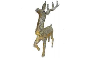 Светодиодный золотой олень 80 см