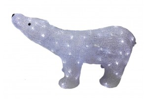 Фигура новогодняя светодиодная «Белый медведь»