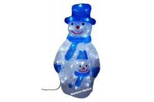 Снеговик светящийся с малышом 43см