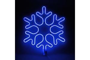 Снежинка голубая светодиодная 40см