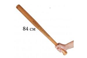 Бита бейсбольная деревянная 84см