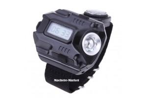 Тактический Usb фонарь-часы на руку с компасом