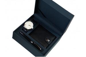 Набор подарочный (часы ручка портмоне)