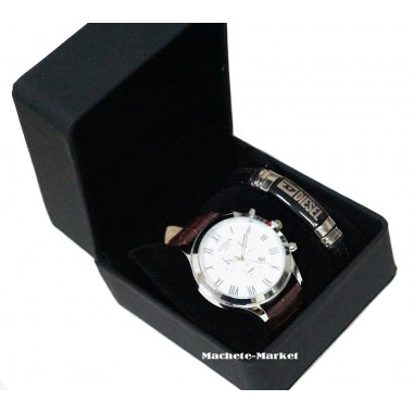 Комплект подарочный часы браслет