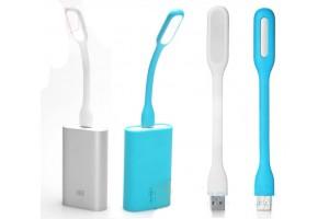 Гибкий USB светильник для ноутбука и Power Bank