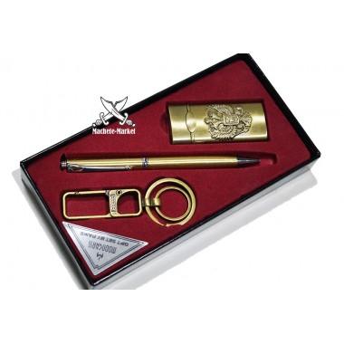 Набор подарочный мужской Зажигалка-Ручка-Брелок