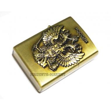 Зажигалка бензиновая с гербом России