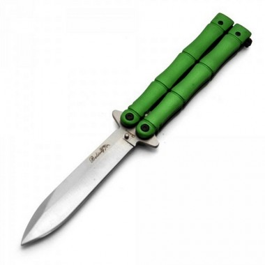 "Нож бабочка ""Зеленый бамбук"""
