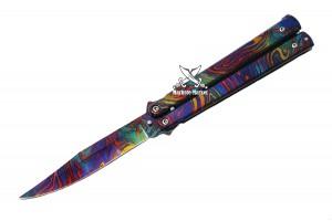 Нож бабочка с клипсой