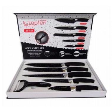 Набор подарочный 5 ножей+овощечистка