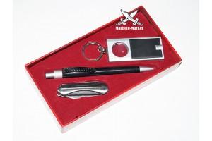 Набор подарочный ручка-брелок-мультитул