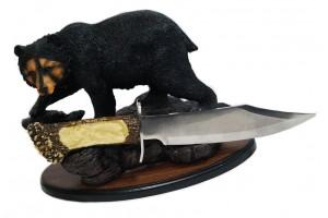 """Нож сувенирный на подставке """"Медведь"""""""