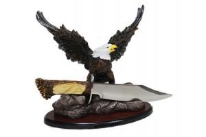 """Нож сувенирный на подставке """"Орёл"""""""