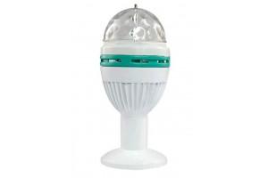 Светомузыкальная вращающаяся лампа-проектор