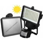Фонарь-прожектор с солнечной панелью и датчиком движения