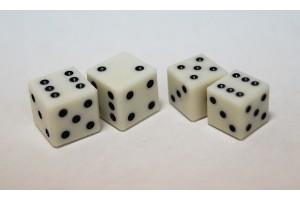Кубики игральные (зары) из бильярдного шара