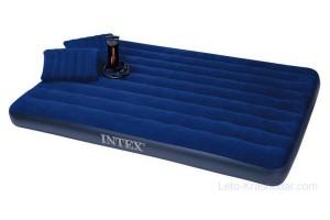 Матрас INTEX 152х203х22+2 подушки+насос