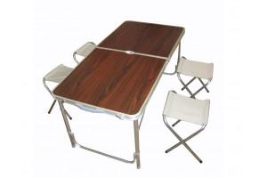 Стол складной для кемпинга + 4 стула