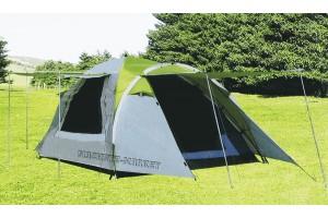 Палатка туристическая 3-х местная с тамбуром LANYU-1707