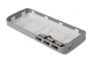 Кассета (бокс) для самостоятельной сборки Power Bank 3 USB