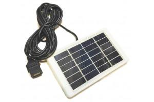 Солнечная панель с USB для зарядки устройств 1W 6V